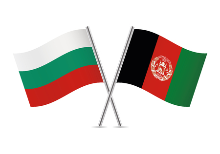 Bulgaria and Afganistan flags. Vector illustration. Illustration