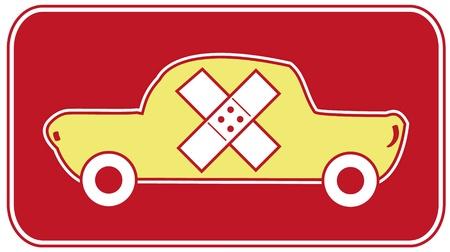 bandaging: Body car and mechanics repair Illustration