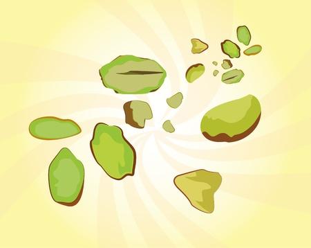 ядра: Фисташки в части Орехи видно из выше дополнение к блюду