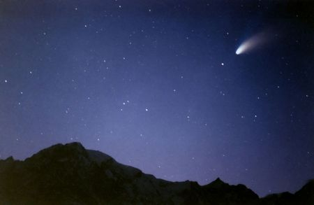 hale: Comet Hale bopp Stock Photo