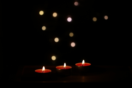Christmas candles decoration Stock Photo