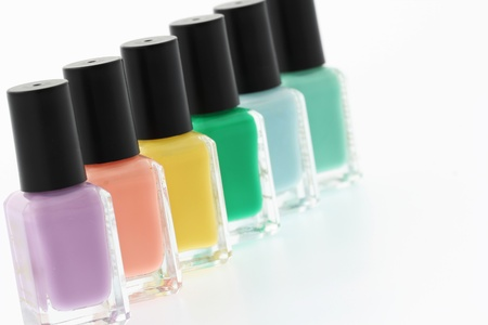 cosmetic lacquer:  Nail polish bottles