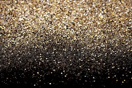 celebra: Navidad del oro y de plata del brillo de fondo. Holiday textura abstracta