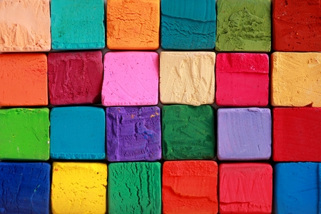 Colorful pastel chalks. Education, arts,creative, back to school background photo