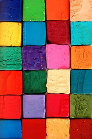 Kleurrijke pastel krijtjes. Onderwijs, kunst, creatief, terug naar school achtergrond Stockfoto