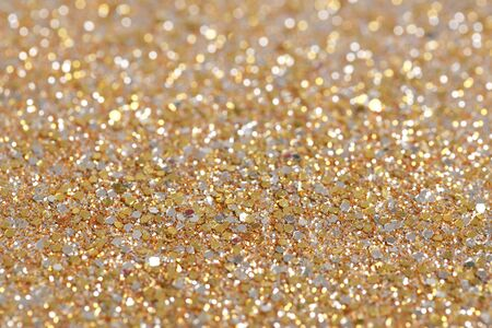 holographic: Christmas New Year Gold Glitter background. Holiday abstract texture