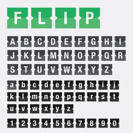 departure: Flip Font Vector Set