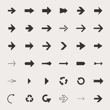Arrow Icon Set Иллюстрация