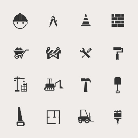 construction plans: Construction Icon Set