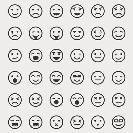 lachendes gesicht: Emoticons Vektor-Set