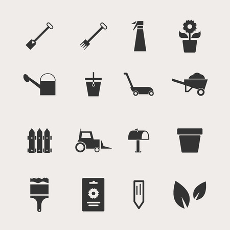 gardening hose: Garden Icon Set