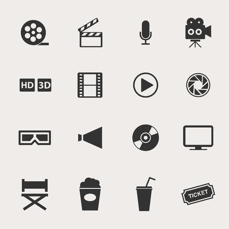 CINE: Película Icon Set