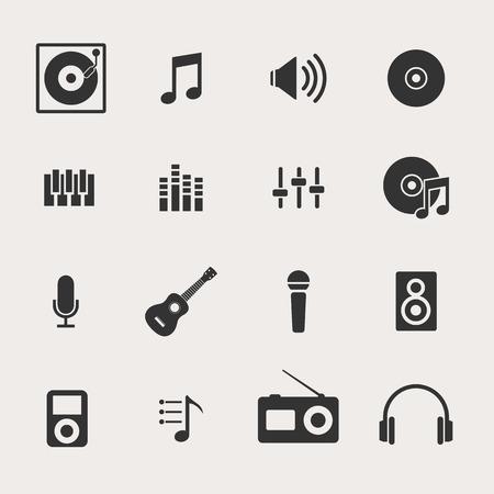music loudspeaker: Music Icon Set Illustration