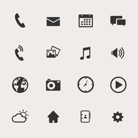 on the phone: Phone Icon Set