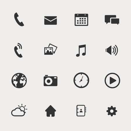 directorio telefonico: Teléfono Icon Set