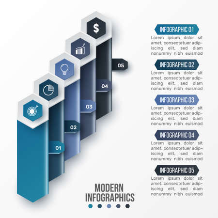 Vector 3D infographic template for presentation. Business data visualization. Abstract elements. Creative concept for infographic.