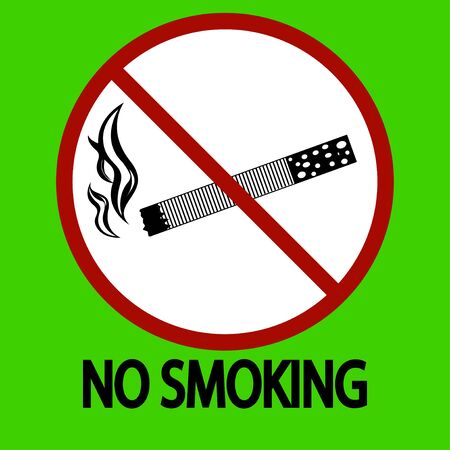Smoking is prohibited in the park. vector illustration
