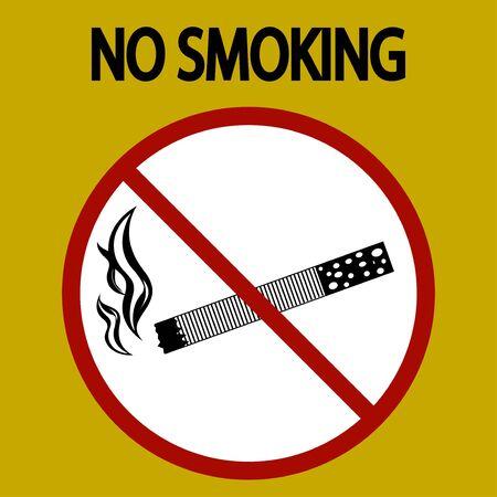 no smoking sign danger, tobacco- vector - eps 8 Banque d'images - 132081118