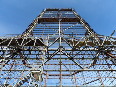 Building . Metal construction . technology building abstract frame