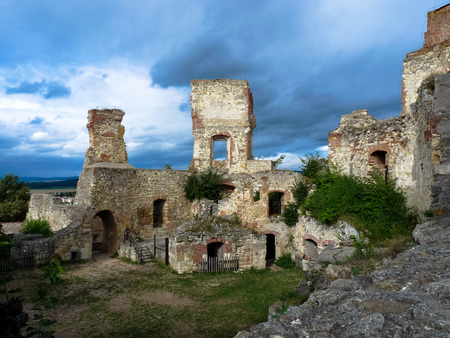 Ruins of Boskovice castle, south Moravia, Czech Republic.