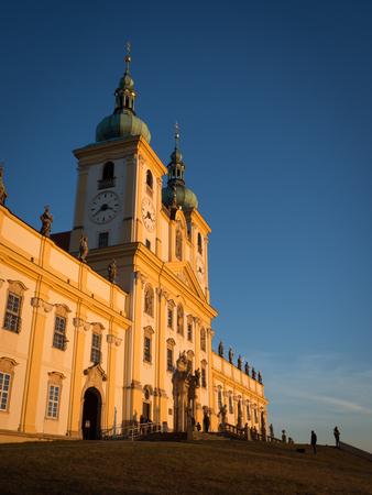 Basilica minor Svaty Kopecek Holly Hill near Olomouc, Czech Republic - place of pilgrimage from 17th century.