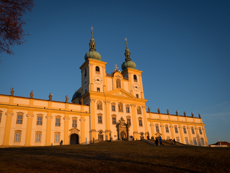 Basilica minor Svaty Kopecek Holly Hill near Olomouc, Czech Republic - place of pilgrimage from 17th century.