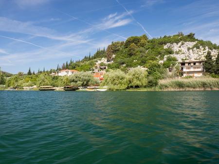 Beautiful Bacina lakes - favourite summer holiday destination in Dalmatia, Croatia Stock Photo