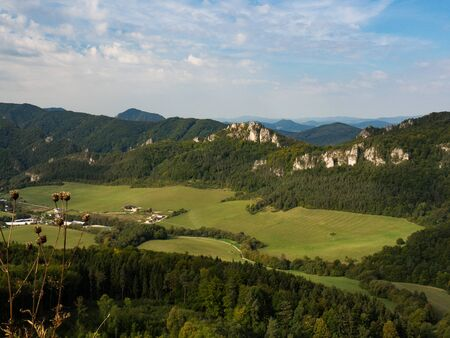 Sulov Rocks, Sulovske skaly national nature reserve in Slovakia, Slovak republic. Beautiful place for hiking, climbing and vacation. Stock Photo