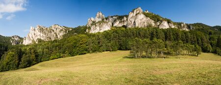 Panorama Sulov Rocks, Sulovske skaly national nature reserve in Slovakia, Slovak republic. Beautiful place for hiking, climbing and vacation.