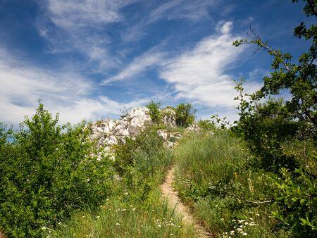 Beautiful nature of Pavlov Hills, Cat Stone Czech republic, summer holiday Reklamní fotografie
