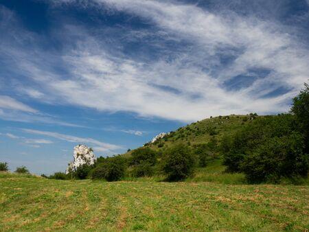 Beautiful nature of Pavlov Hills, Czech republic, hiking holiday