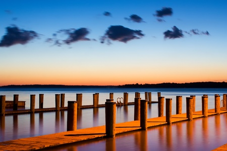 Sunrise at Rogues Harbor in Cecil County,Maryland.