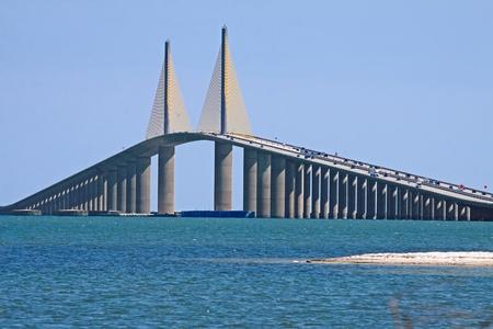 The Sunshine Skyway Bridge spanning Tampa Bay,Florida.
