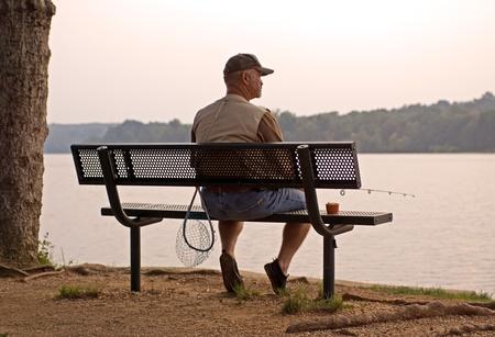 Fishing at Lake Pinchot in York County,Pennsylvania,USA.