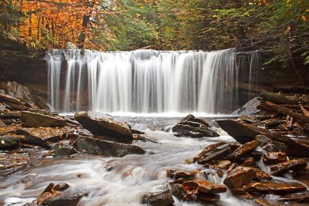 Waterfall at Ricketts Glen State Park,Pennsylvania