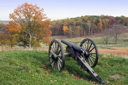 battlefield: Gettysburg National Military Park in Pennsylvania Stock Photo
