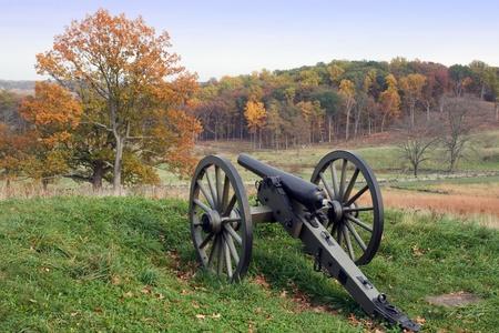gettysburg battlefield: Gettysburg National Military Park in Pennsylvania Stock Photo