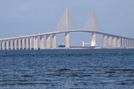 Sunshine Skyway Bridge,Tampa Bay,Florida. photo