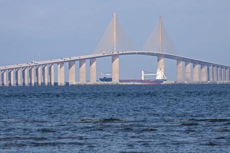 Sunshine Skyway Bridge,Tampa Bay,Florida.