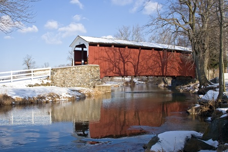 Erbs Covered Bridge in Lancaster,Pennsylvania