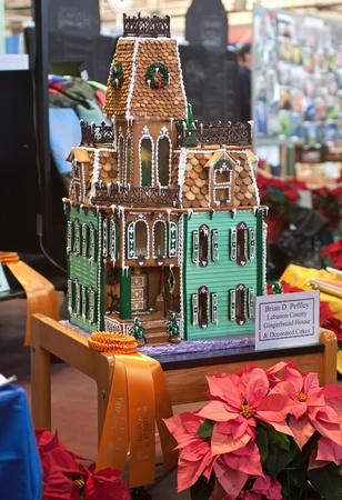 Gingerbread House at Pennsylvania Farm Show Stock Photo - 11867316
