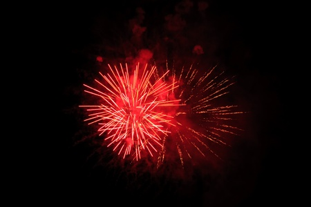 A colorful fireworks display,Independence Day U S A