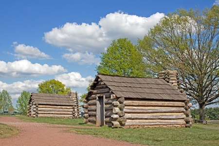 forge: Soldiers huts at Valley Forge National Historical Park