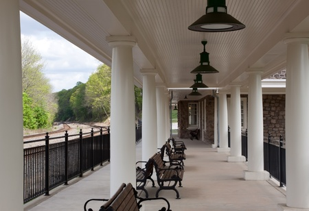 Valley Forge National Historical Park Train Station Stock Photo