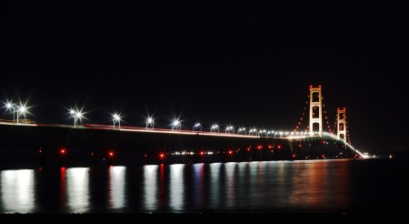 The Mackinac Bridge is located on Interstate 75 in northern Michigan at the Straits of Mackinac  The bridge connects Michigan
