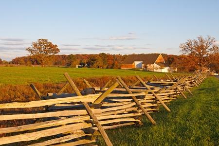 A farmstead on the battlefield at Gettysburg National Military Park,Pennsylvania,USA