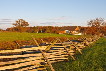 gettysburg battlefield: A farmstead on the battlefield at Gettysburg National Military Park,Pennsylvania,USA