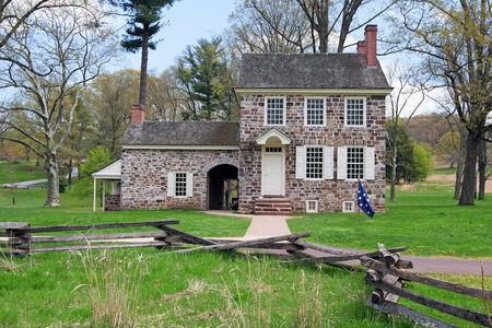 george washington: Esta casa en el Valley Forge National Historical Park fue George Washington