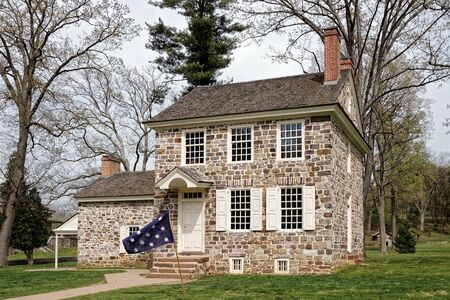 This house at the Valley Forge National Historical Park was George Washingtons winter headquarters.Here the General coordinated the daily operations of the of the entire Continental Army.