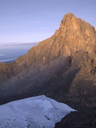 Mt Kenya ice cap Stock Photo - 7077234